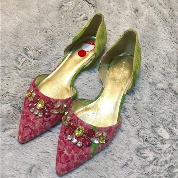 0a743e4081 Ivanka Trump Shoes   Jeweled Floral Fats Size 10m   Poshmark